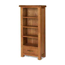 Emsworth Oak Petite Bookcase with Drawer Solid Wood Furniture