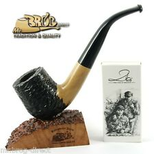 Mr.Brog original smoking pipe nr.38 black/white carved *OLD BOY* HAND MADE IN EU