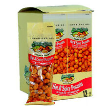 Snak Club Tube Hot & Spicy Peanuts 2 Oz Each ( 12 In A Pack )