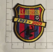 "AS Aubusson Patch - soccer  - futbol - 2 3/4"" x 3 1/8"""