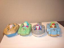 Captain Planet Flip Car 4 Pc.Complete set 1990 Burger King Toy Cake topper