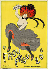 VINTAGE LE FROU FROU FRENCH ADVERTISING A4 POSTER PRINT