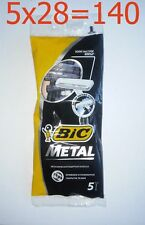 140 Mens Disposable Razors BIC Metal 5-count (28 Pack) Free Shipping