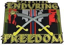 Large Operation Enduring Freedom Veteran Jacket Back Patch - Veteran Owned Busi