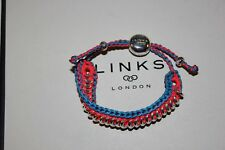 GENUINE LINKS OF LONDON 925 SILVER TURQUOISE ORANGE SWEETIE FRIENDSHIP BRACELET