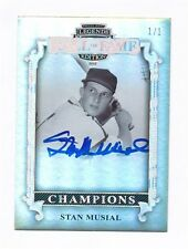 2012 PRESS PASS LEGENDS HALL OF FAME STAN MUSIAL AUTO 1/1
