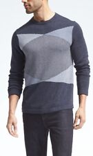 NWT Banana Republic Colorblock Silk Linen Pullover Crew Sweater SZ S $79.50