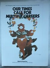"""Milton Glaser """"Our Times"""" Visual Arts Gallery NYC Pop Art Poster 1968 Pop Art 33"""