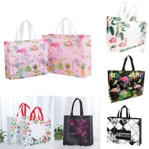 Non-woven Fabric Flamingo Shopping Bag Reusable Pouch Travel Storage Handbag US
