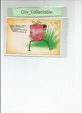 P371 # MALAYSIA USED PICTURE POST CARD * Comic Drawing Heavy Birthday Present