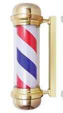 "NEW 28"" CLASSIC BARBER POLE OUTDOOR - GOLD DOME CAP"