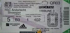 TICKET UEFA CL 2009/10 RSC Anderlecht - Sivasspor