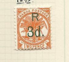 1895  2d Surcharged R 3d  Mint Hinged as per Scan