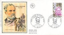 FRANCE FDC - 1768 4 LOUIS PASTEUR VACCIN CONTRE LA RAGE DOLE 6 10 1973 - LUXE