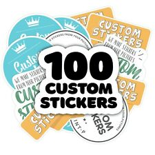 Custom stickers bulk and Decals Set of 100 Product Labels, Business Logo Sticker