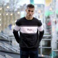 Pre London Mens Sweat Crew Neck Fleece Jumper Long Sleeve Sweater Sweatshirt