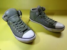 Converse All Star cuir vert olive taille 42 réf07 unisex