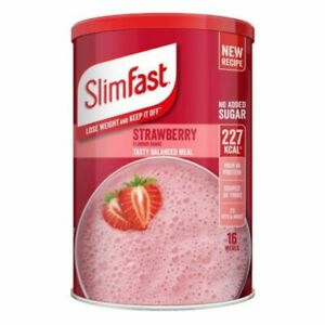SlimFast Strawberry Flavour Shake Powder 584g - 16 Servings Meal Replacement