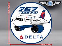 DELTA AIR LINES ROUND PUDGY BOEING B767 DECAL / STICKER