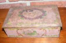 Vintage Canco Hinged Candy Tin Box Louis Sherry Purple Violets