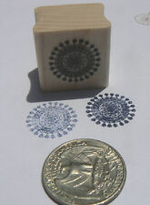 P24 Miniature doily rubber stamp WM