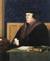 Stunning Oil painting Holbein Hans - Male Portrait of Thomas Cromwell canvas art
