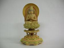 Buddhism Wood Sculpture (light-colored); DAINICHI NYORAI (Vairocana)