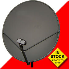 "36"" 90cm Satellite FTA Dish with 4 Degree Kit w/2 LNBFs"