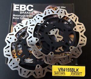 Brake Discs Set Kawasaki ZZR 1400, ZZR1400, Year 06 VR4155BLK,VR 4155 Blk