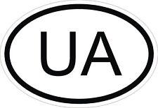 UA Ucraina Codice paese OVALE Adesivo Paraurti Decalcomania Auto
