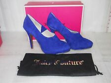 Juicy Couture New Womens Eylssa Electric Blue Platform Booties Heels 9.5 M Shoes