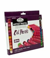 24 LARGE SIZE PIGMENT COLOUR OIL PASTELS - ARTISTS DRAWING & SKETCHING OILPA624