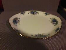 Royal Albert Bone China Moonlight Rose - Oval Handle Plate 10""