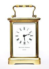VINTAGE MATTHEW NORMAN BRASS CARRIAGE CLOCK, SERVICED, WORKING WELL