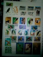 Vögel Lot Timbres Stamps Briefmarken Sellos