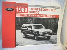 1989 F-Series/Econoline/Bronco Do-It-Yourself Service Manual