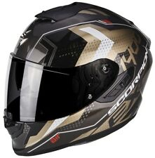 Casco Integrale Scorpion Exo 1400 Air Trika Gold Black Moto Fibra XS