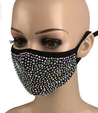 Crystal Rhinestone Bling Face Mask Reusable With Filter Pocket Face Cover Masks