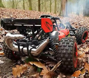 RC Petrol Car 1/5 2.4G RWD 80km/h 29cc Nitro RC Buggy 2 Stroke Engine SEE VIDEO