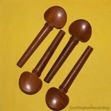 Nuevo Conjunto De Brown De Madera Dura Tamaño De 3/4 Cello Cuerdas clavijas de afinación de buena calidad