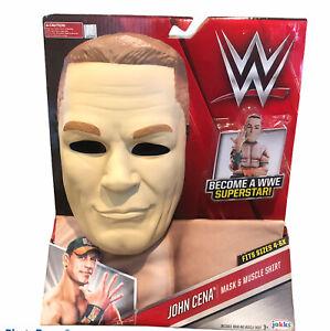 WWE John Cena Jakks Mask & Muscle Shirt
