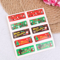 100pcs Merry Christmas Paper Sealing Stickers DIY Gifts Labels Candy Bag Tags DS