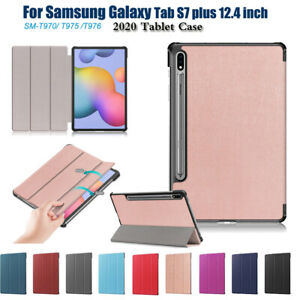 """Magnetic Folio case For Samsung galaxy Tab S7 plus 12.4"""" T970 T975 Stand Cover"""