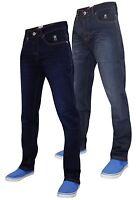 Mens Slim Fit Jeans Coated Crosshatch Designer Stretchable Denim Trousers New