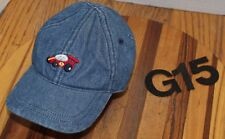 MINI WEAR BLUE DENIM BABY HAT WITH RACE CAR 3-9 MONTHS STRETCH FIT VGC G15