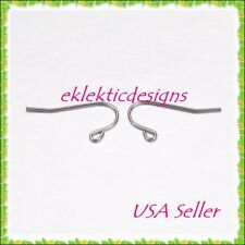 20pc 21mm Stainless Steel French Hook Simple Swoop Wire Earrings 10pr Findings