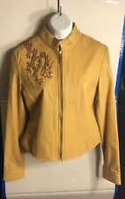 BABY PHAT Beige Leather Jacket Women's Jacket Size Small Brand New