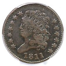 1811 C-2 R-3 Pcgs Vf 20 Classic Head Half Cent Coin 1/2c