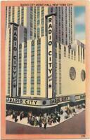 Postcard Radio City Music Hall Manhattan NYC New York Acacia Linen