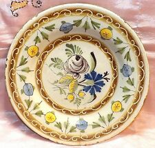 RARE 17TH CENTURY PAINTED FRENCH CERAMIC BOWL ~GREAT CONVERSATION PIECE~